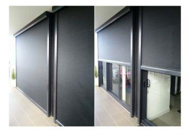 Ezip Ziptrak Blinds In Clear Pvc Or Screen Fabric