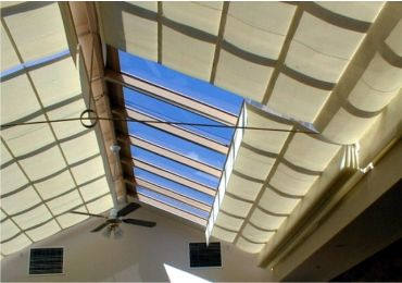 Pleated Pergola Shades